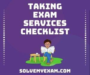 Taking Exam Services Checklist